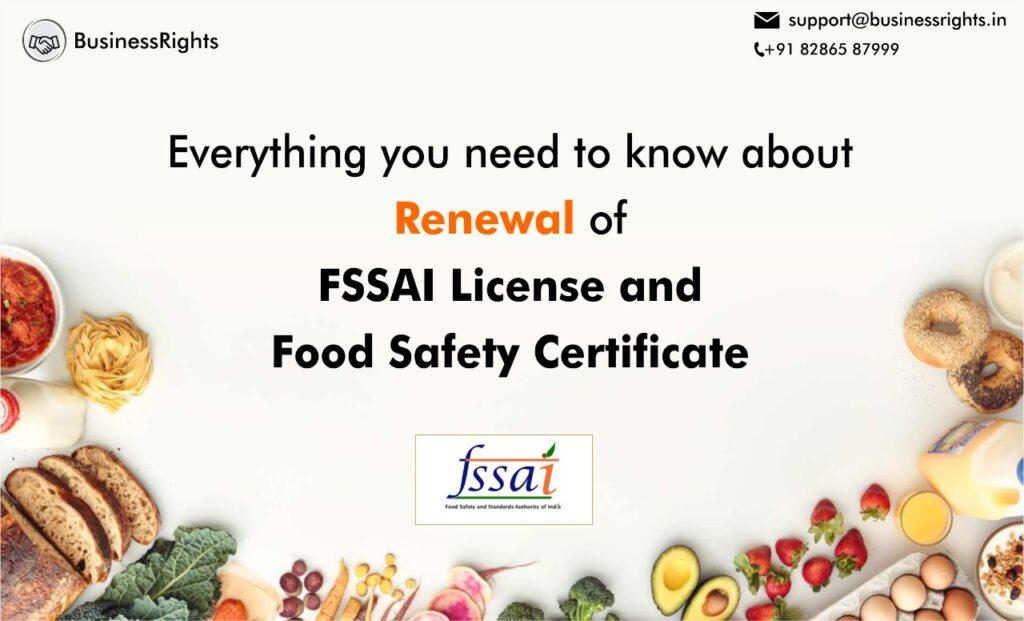 renewal of food license