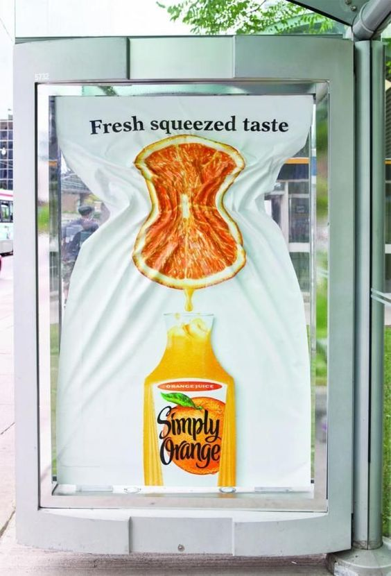 Creative graphic design ad by Simply Orange - Great Marketing example
