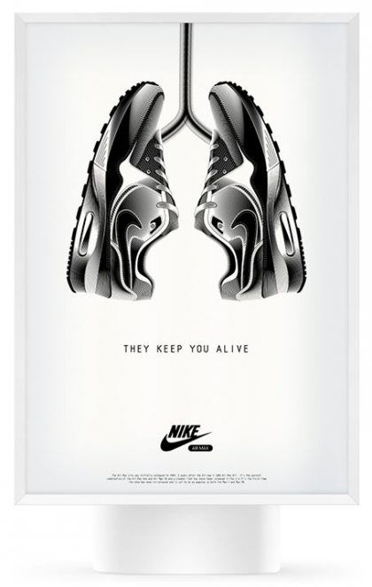 Creative ad example by Nike